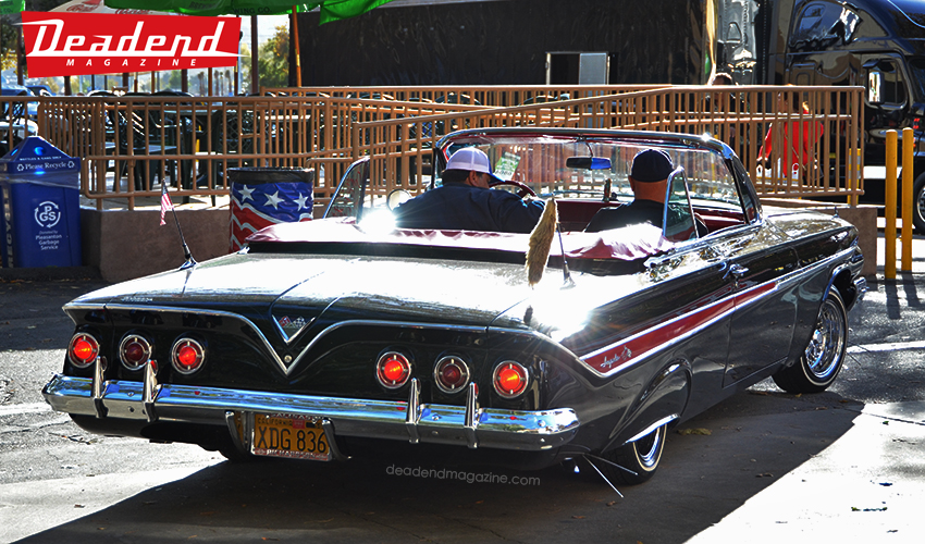 "Xavier ""The X-Man"" brought his '61 Impala all the way from San Diego, CA!"