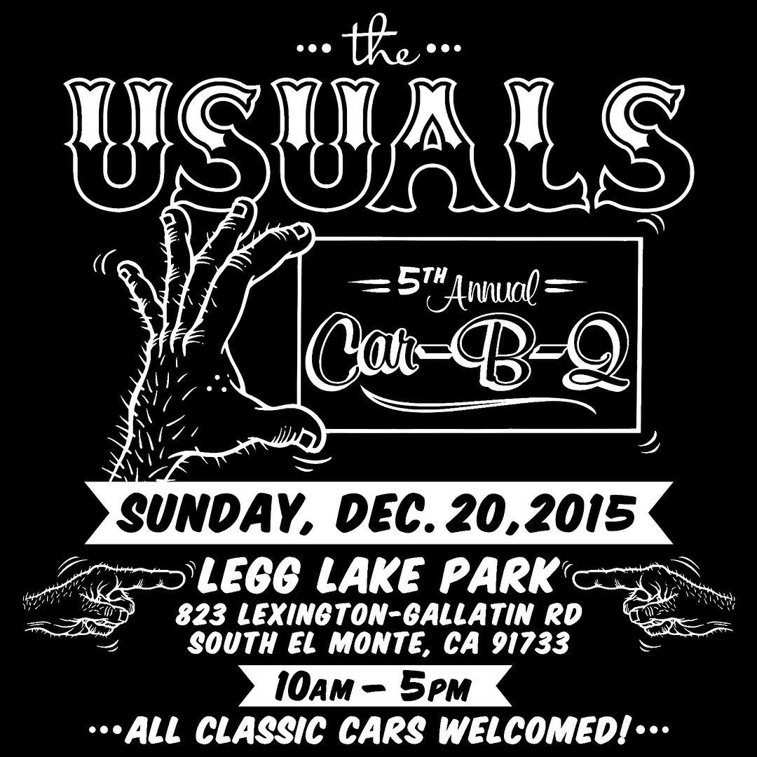 If you're in the So Cal area on Sunday make sure to stop by the Usuals Car-B-Q at Legg Lake.
