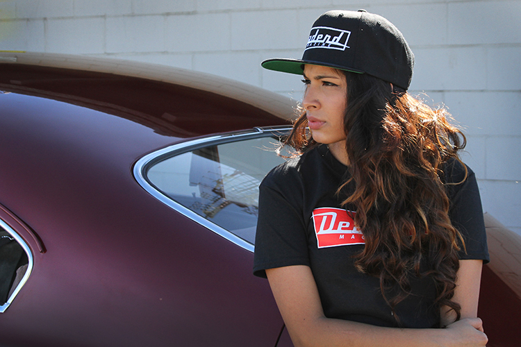Karla with our Deadend original logo hat & shirt (available in our online shop)
