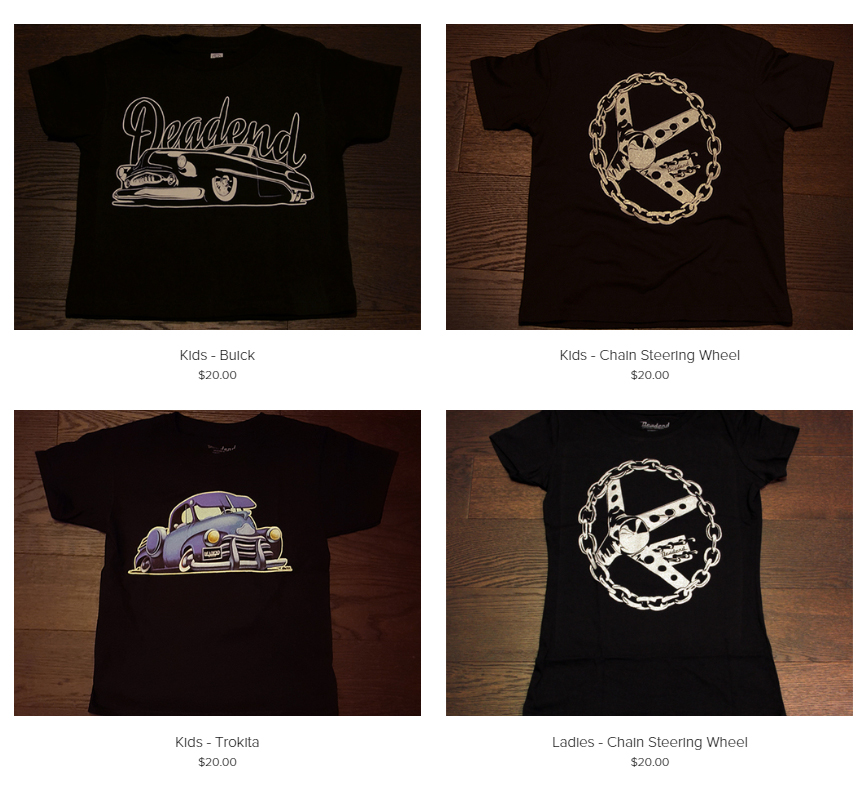 The Deadend Magazine online shop was updated as well with new products for kids & ladies.
