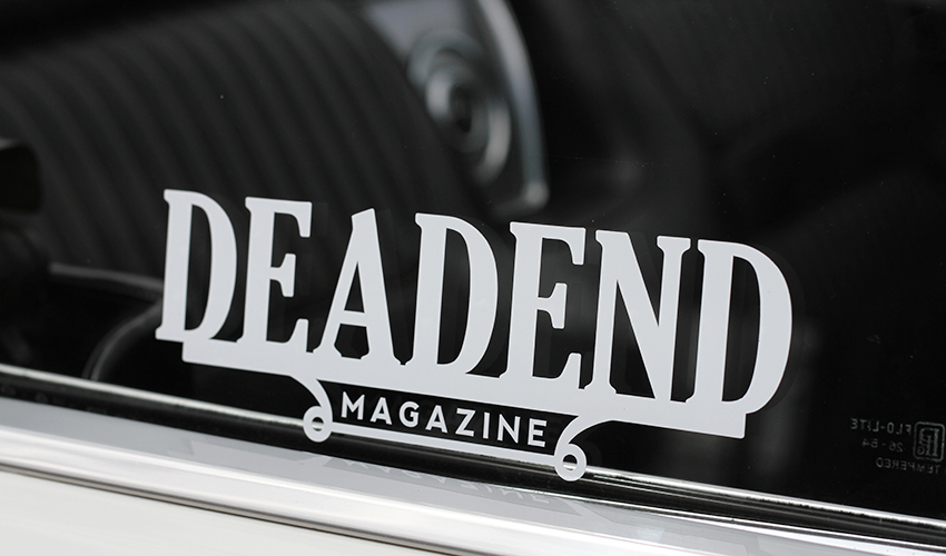 Our Deadend plaque decal (both these designs and our old english logo will be up for sale soon)