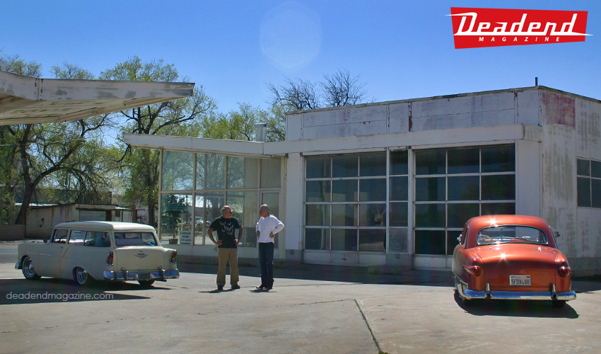 We stopped at a very neat old dealership / gas station in the middle of nowhere that Lee almost bought.