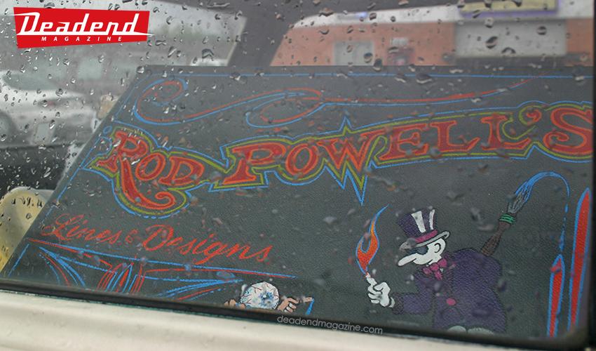 A look inside Rod Powell's wagon.