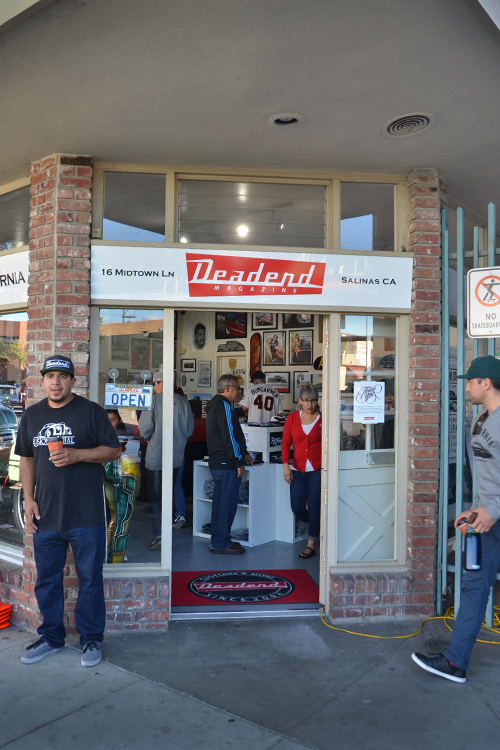 The front of the store moments after we opened.