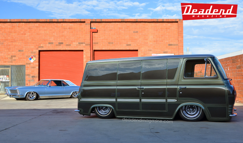 "Coby Gewertz stopped by with ""Van Go"" Econoline."