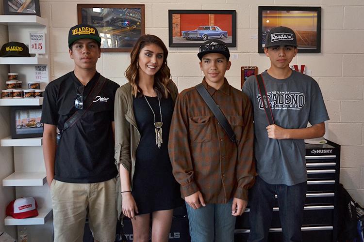Four of the artists that were part of the Bright Future art show. Esteban Ramirez Jr., Aliyah Pullen, Julian Nunez and Diego Hernandez.