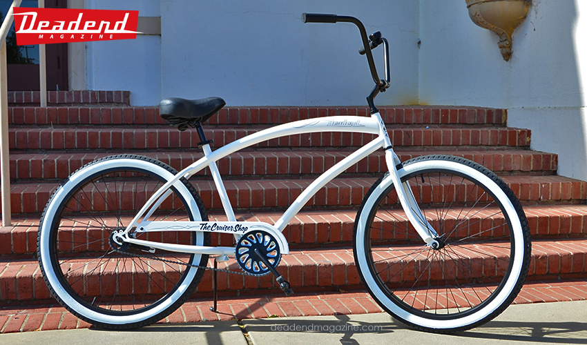 The beach cruiser we raffled off donated by The Cruiser Shop (Campbell, CA)