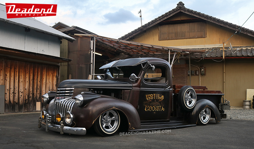 Sachi's 46 Chevy pick-up definitely has 'estilo'