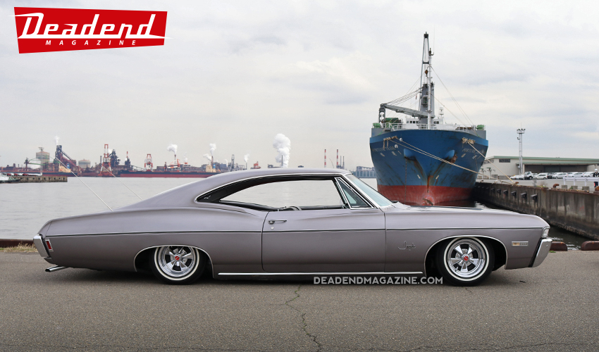 Although wild paint jobs are the most popular amongst Primera Car Club members this 1968 Impala shows that simple and clean also represents the 1970's.