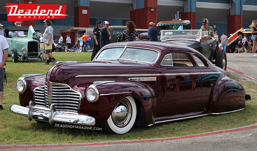 Our buddy Dennis from Northern California brought out 5 of his customs. This is one of them, beautiful Buick.