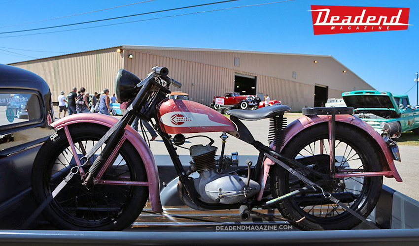 Cool vintage Harley Davidson.