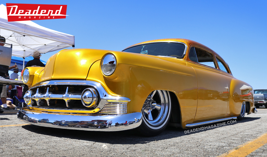 We liked this bright custom Chevy.