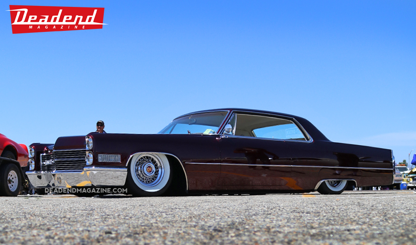 This Coupe Deville looked gorgeous in Caddy wires.