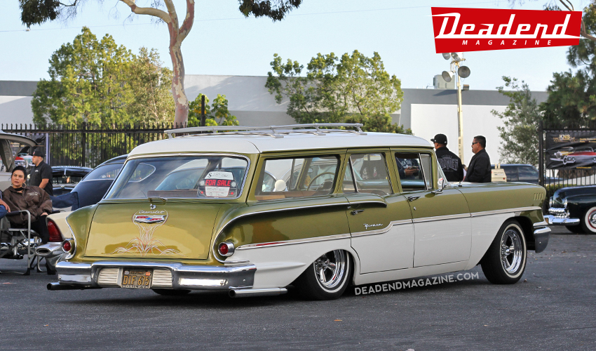 Very cool 58 wagon cruisin' through.