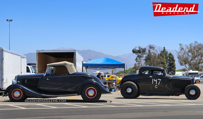 A pair of neat hot rods with different attitudes.