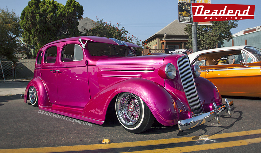 Melin's custom painted 1936 Chevy. One of our favorites at the show.
