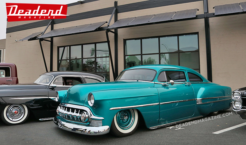 A couple of Chevy customs.