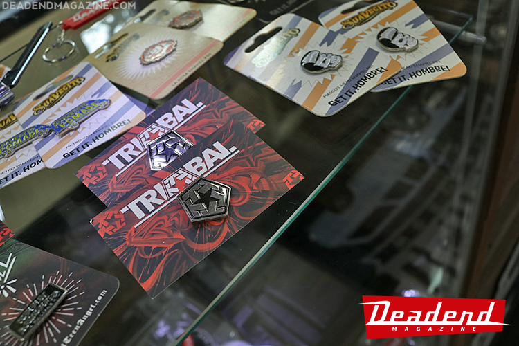 We have Tribal Gear, Suavecito Pomade & Teen Angels pins.