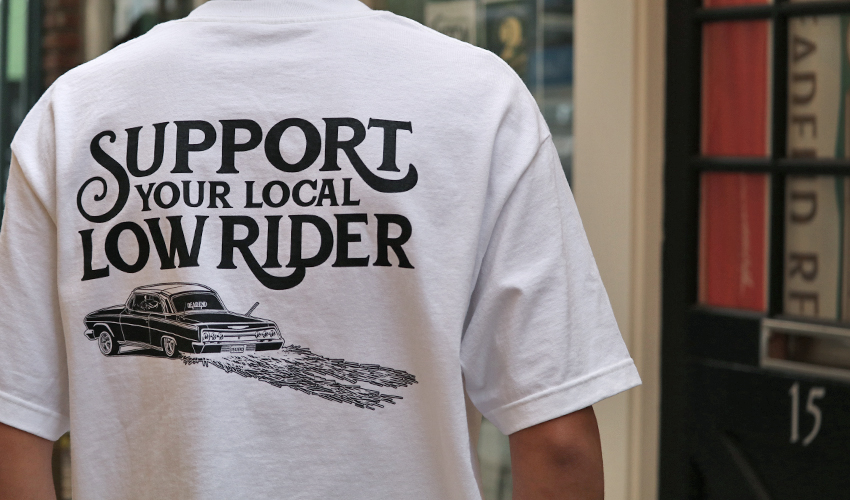 "'Support Your Local Low Rider"" will now be available in white."