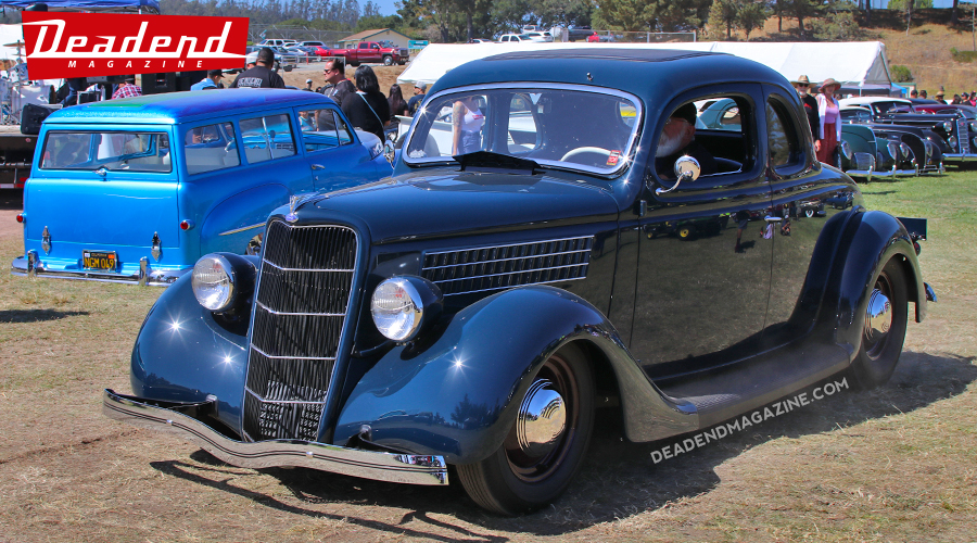 "Paul Bradley's 35 Ford known as ""The Compton Coupe"" took home the Salinas Boys Customs pick."