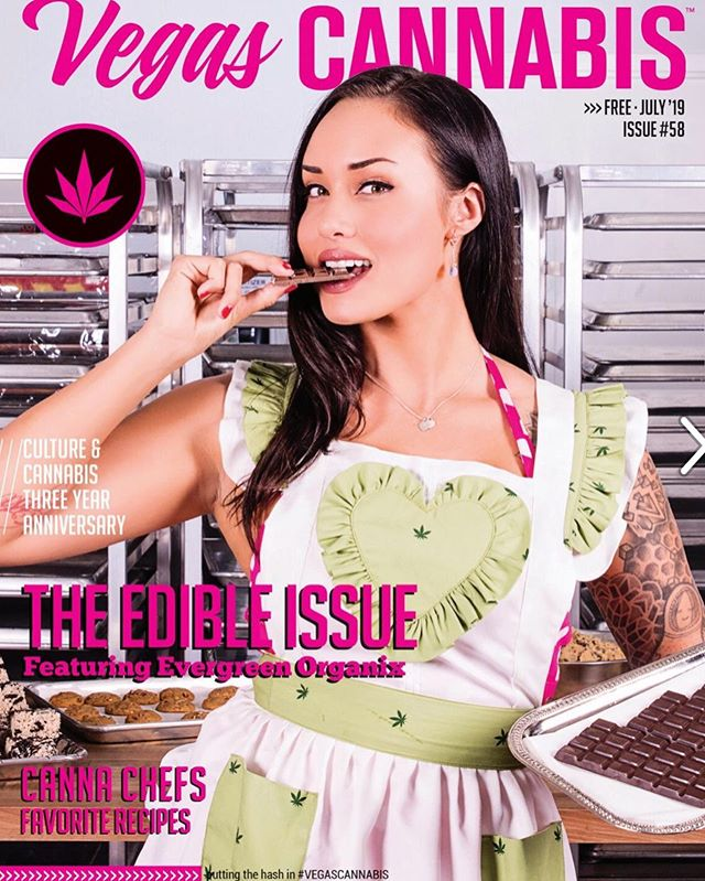 But have you seen this months @vegascannabis?? 🤩💚🍫This marks our 8th cover feature for them!! Keep out of reach of children. For use only by adults 21 years of age older. #vegascannabis #cannabiscommunity #dtlv #downtown #weedphotography #medicate #edibles #evergreenorganix #vegascannabis