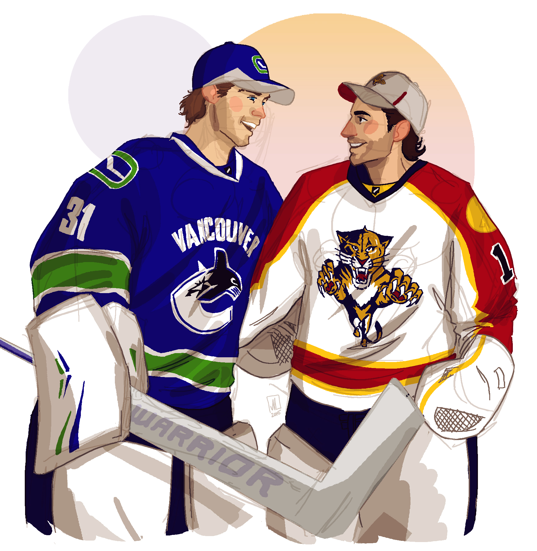 Eddie Läck and Roberto Luongo