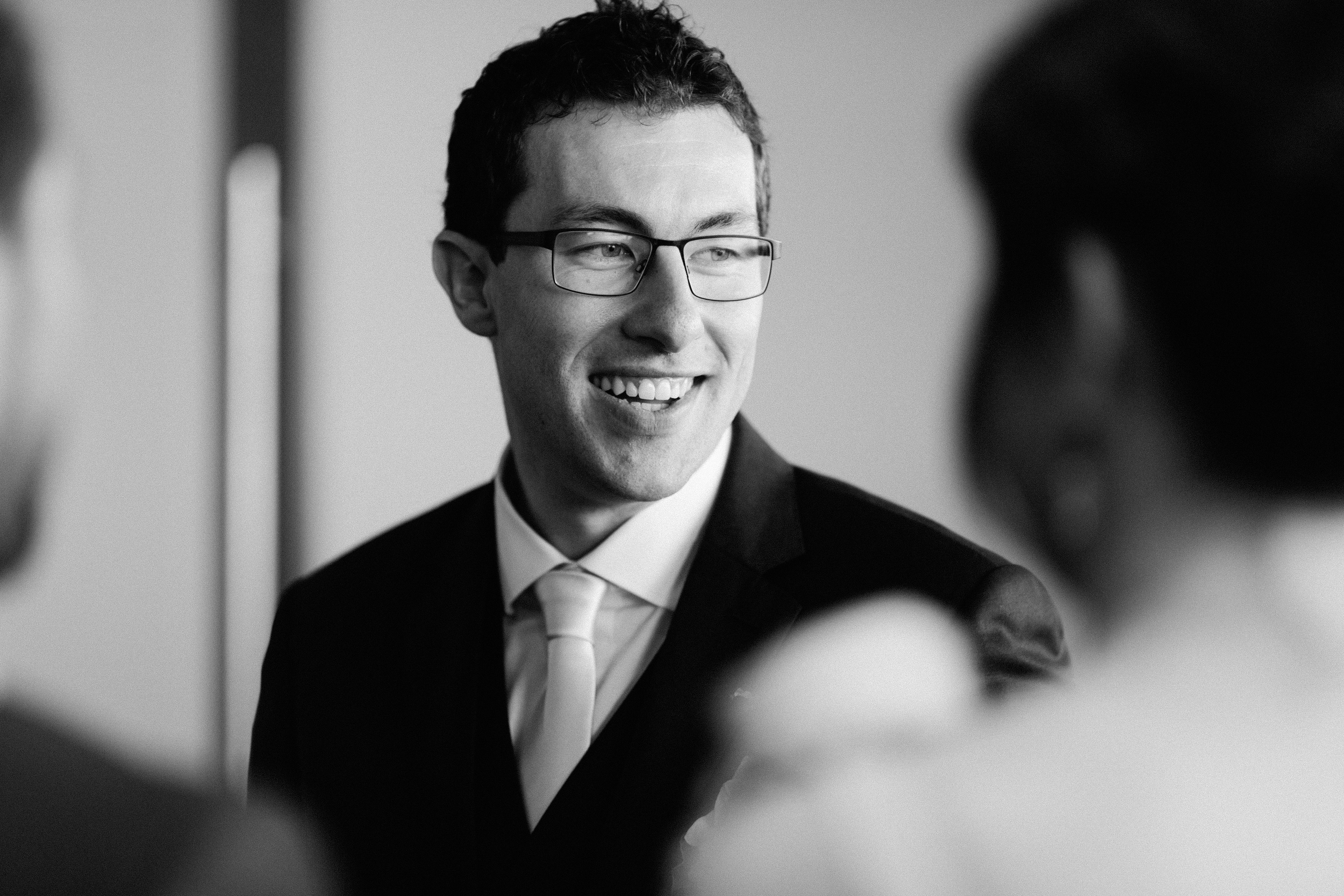 Dr Vickers on his wedding day. He had orthodontic work and whitened his teeth prior to his wedding day.