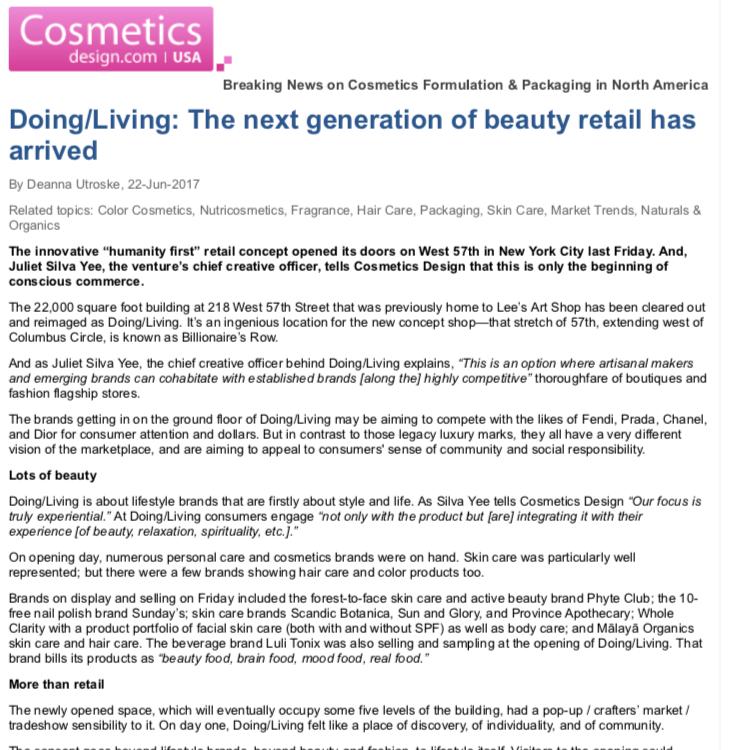 Cosmetics Design 22nd July 2017