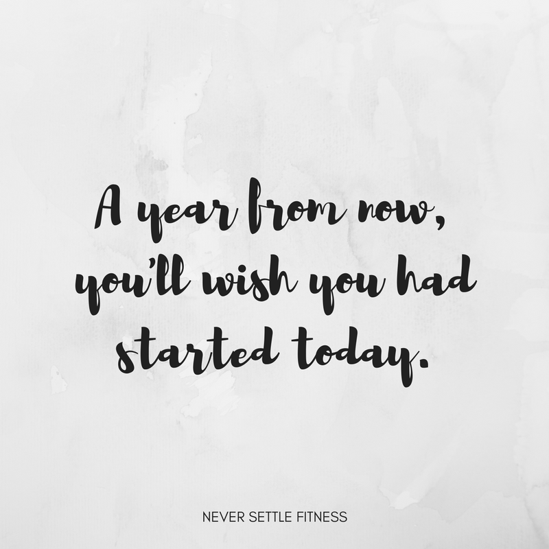 A year from now, you'll wish you had started today.
