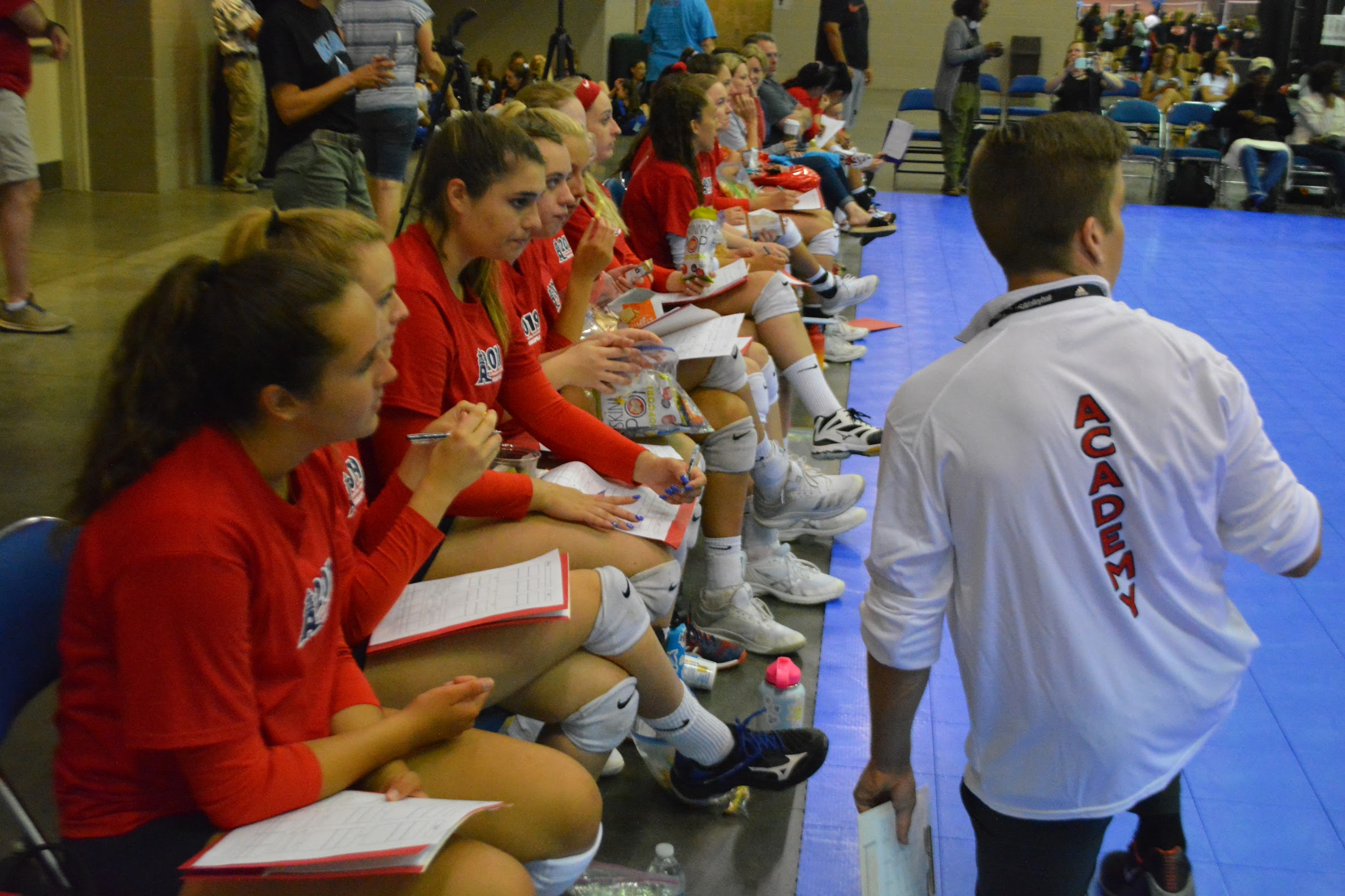 Girls 17 Red prepare to face a new opponent at Nationals.