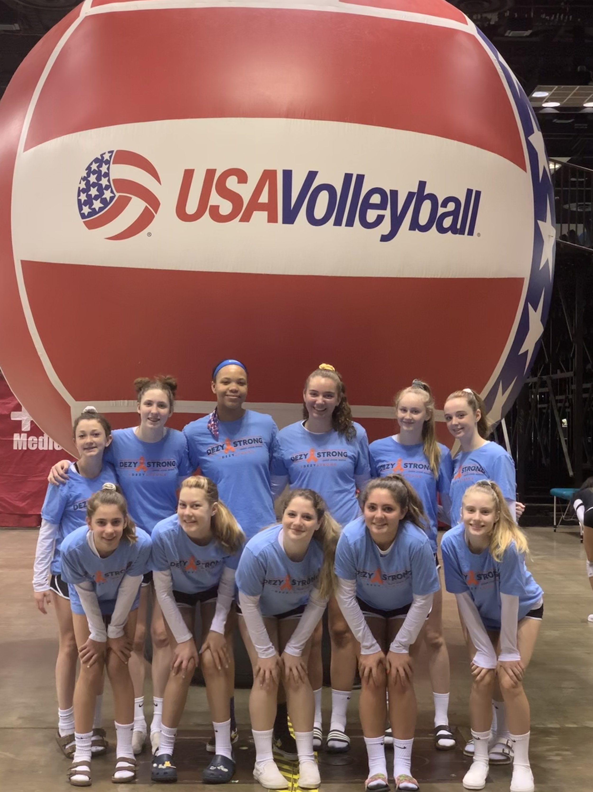 Girls 14 Red are #DezyStrong at Nationals