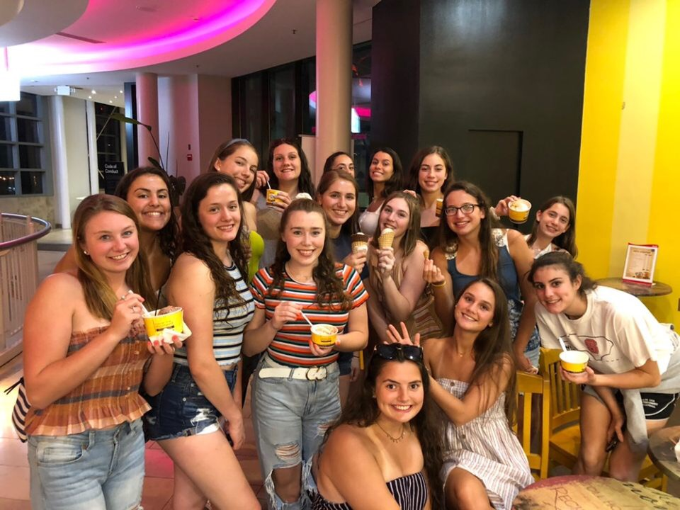 Girls 16 Red enjoy a treat while at Nationals in Indianapolis.
