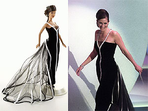 The iconic custom vintage Valentino gown, worn by Julia Roberts in 2001, at the Academy Awards. Roberts not only won the Best Actress award for her role in Erin Brokovich but also topped many best-dressed lists.