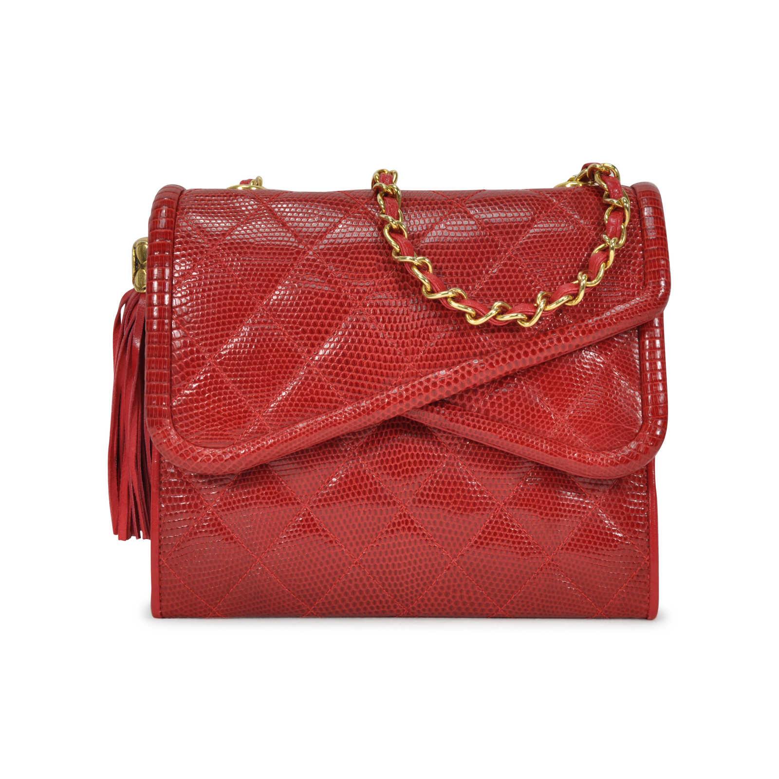 CHANEL - Lizard Quilt Mini Bag