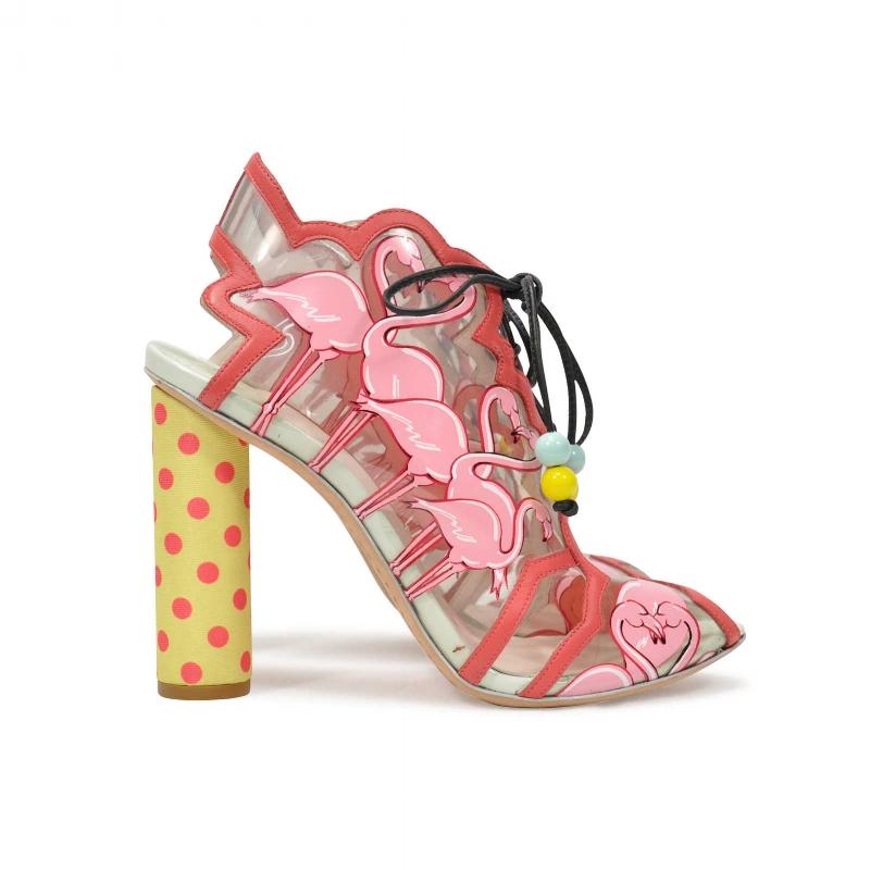 SOPHIA WEBSTER Flamingo Lace Up Heels