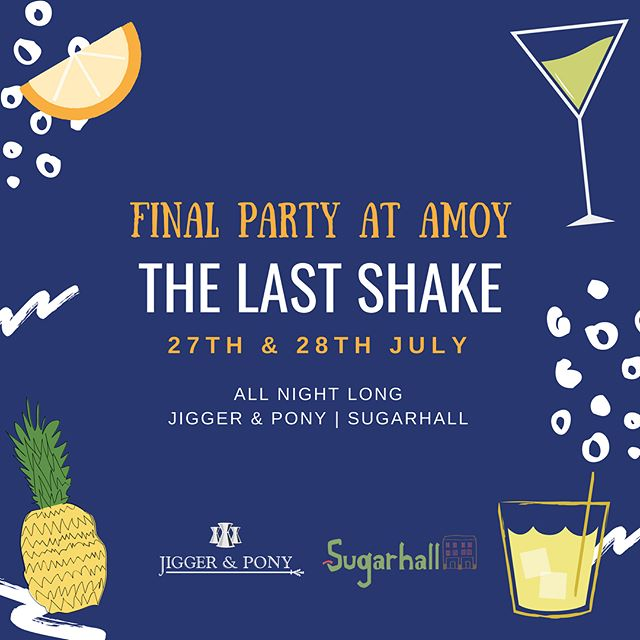 """Join us for an epic celebration as we shake things up together for the last time at 102 Amoy St. It's a fond farewell to Amoy Street, the street we """"grew up"""" on!✨ . P.s. Don't forget to drop us a ring to make your reservations 📞 . Click on the link in our bio for more updates!"""