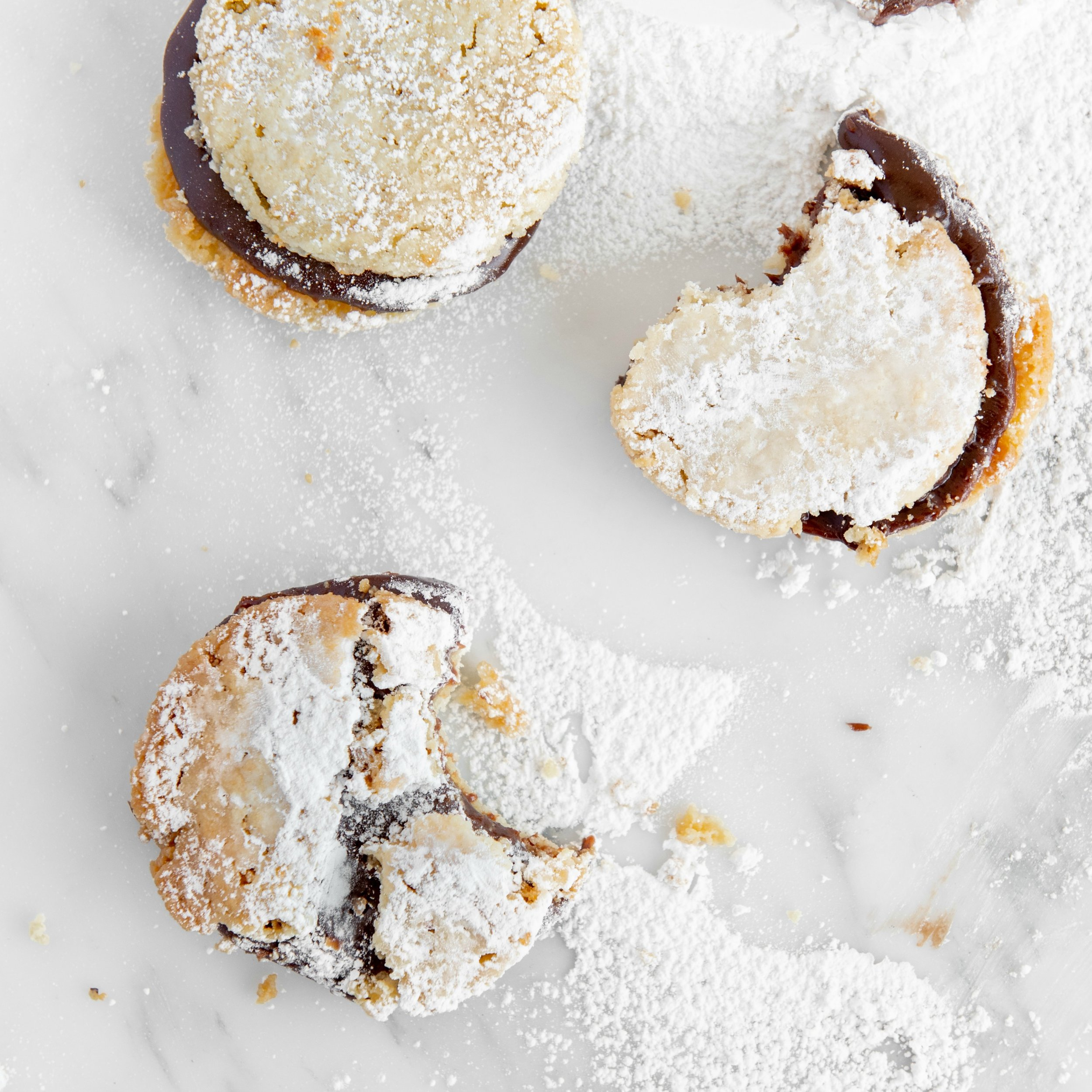 Shortbread Brigwiches - Melt-in-your-Mouth Gluten-Free Masa Shortbread Cookies with Delectable Chocolate Brig Middles