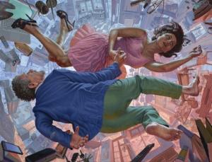 F. Scott Hess, Dancing at the Edge of Time, 2015. Oil on polyester canvas, 41 x 54.5 in. (104.1 x 138.4 cm)