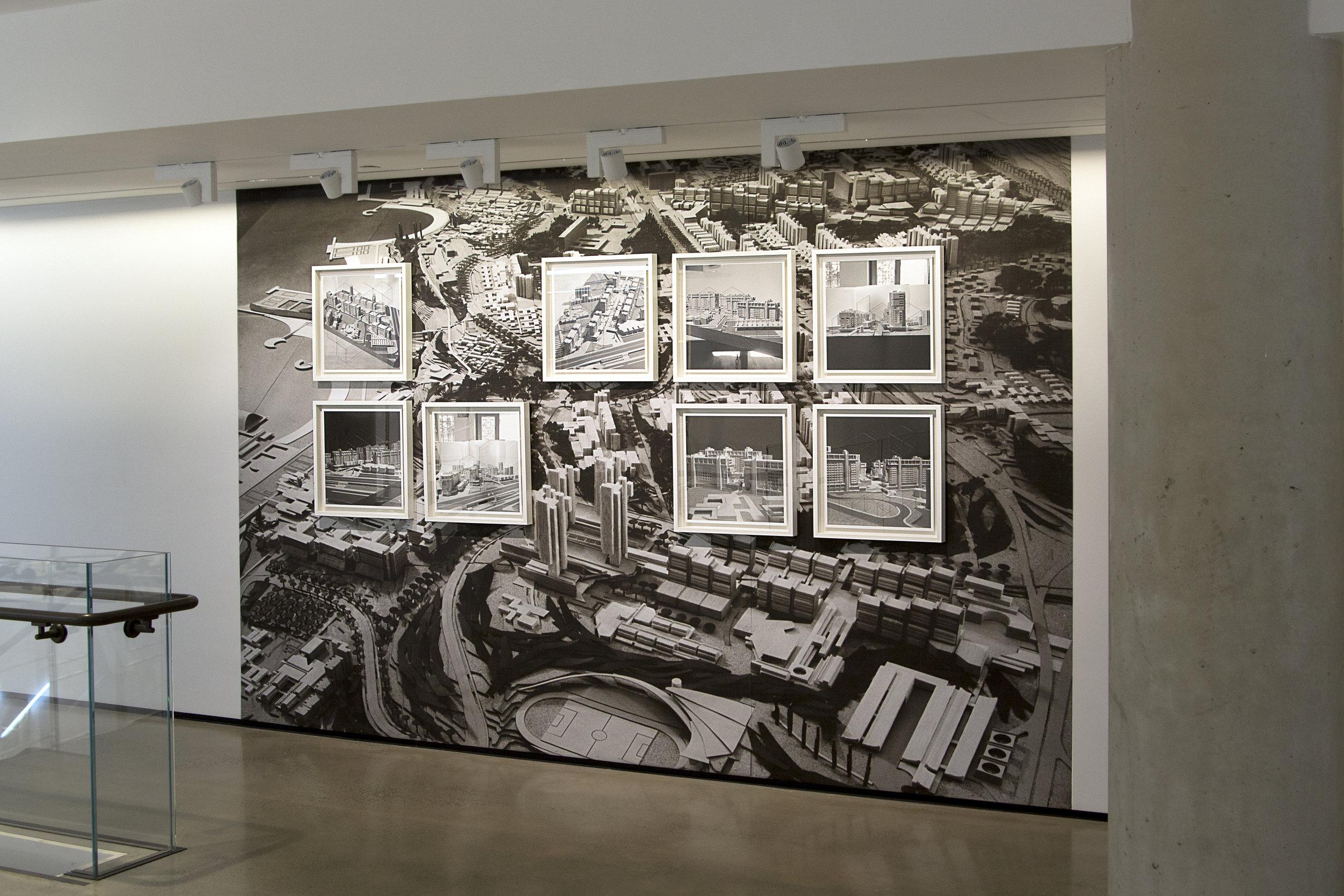 Untitled (Archive ST3) , 2015  8 digital prints on paper, graphite sticks, installed on digital print on paper  Framed: 20.47 x 20.47 x 1.57 in. (44,5 x 44,5 x 2 cm /framed 52 x 52 x 4 cm)