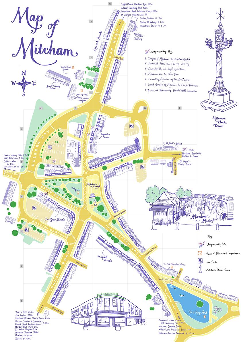 Mitcham Town Centre Map