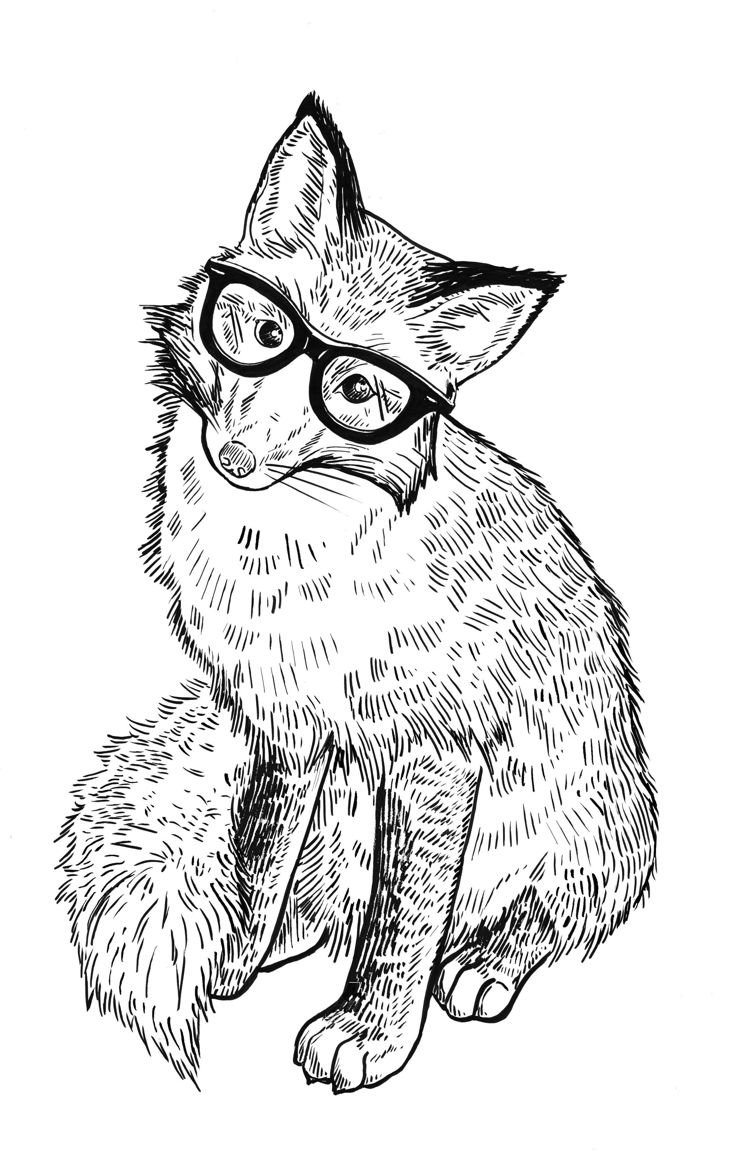 Fox with specs