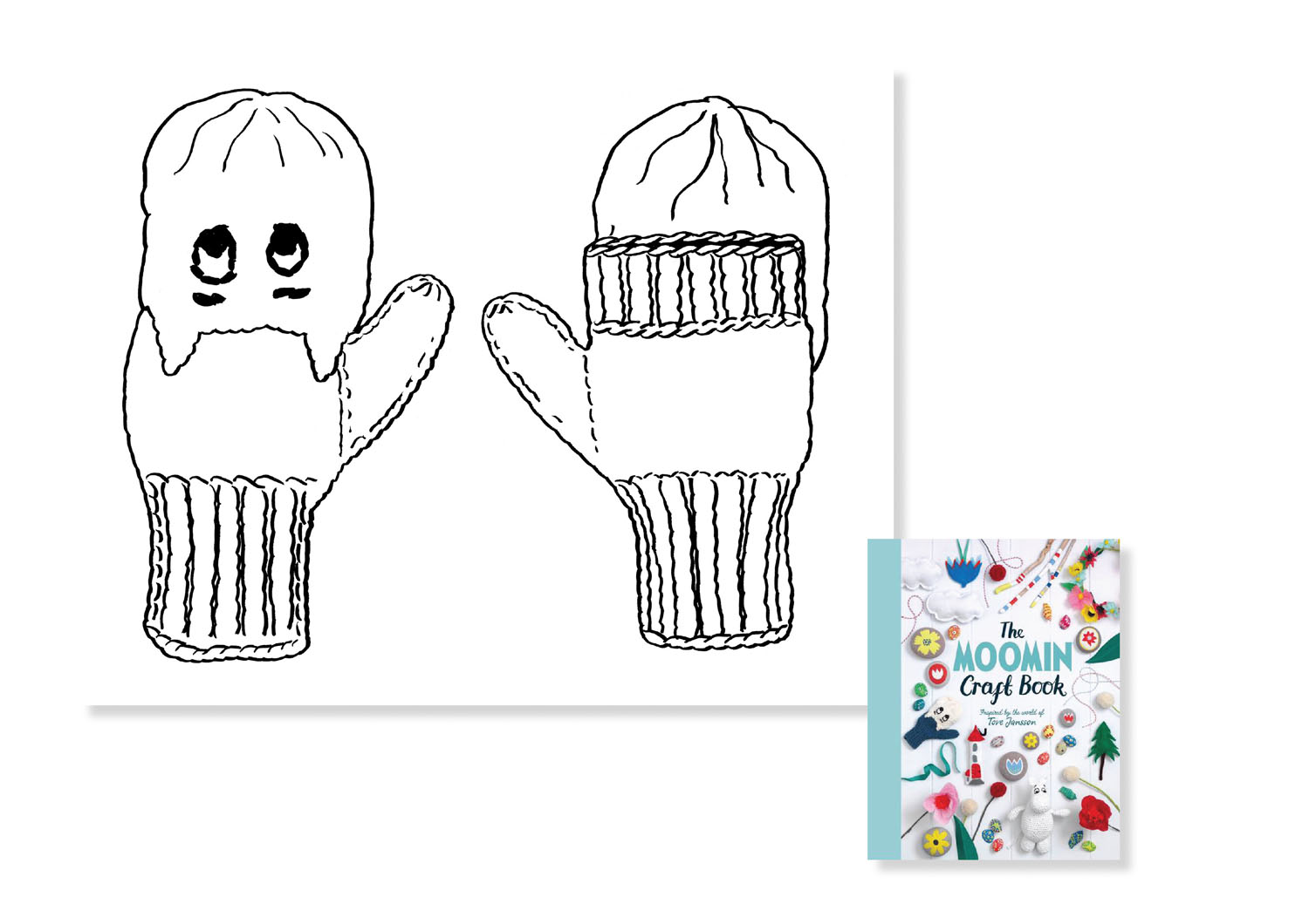 Mittens for The Moomin Craft Book