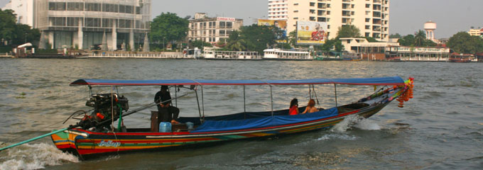 Long Tail Boat  , photo from commons.wikimedia.org