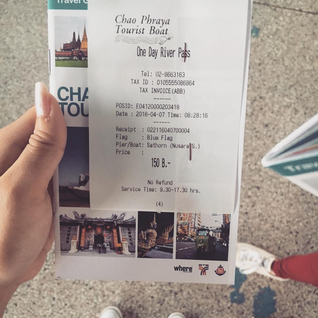 One day ticket - 150THB ,  photo from instagram.com ( chaniga91ท่าเรือ)