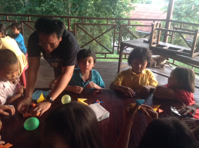 An origami class offered by Pandan