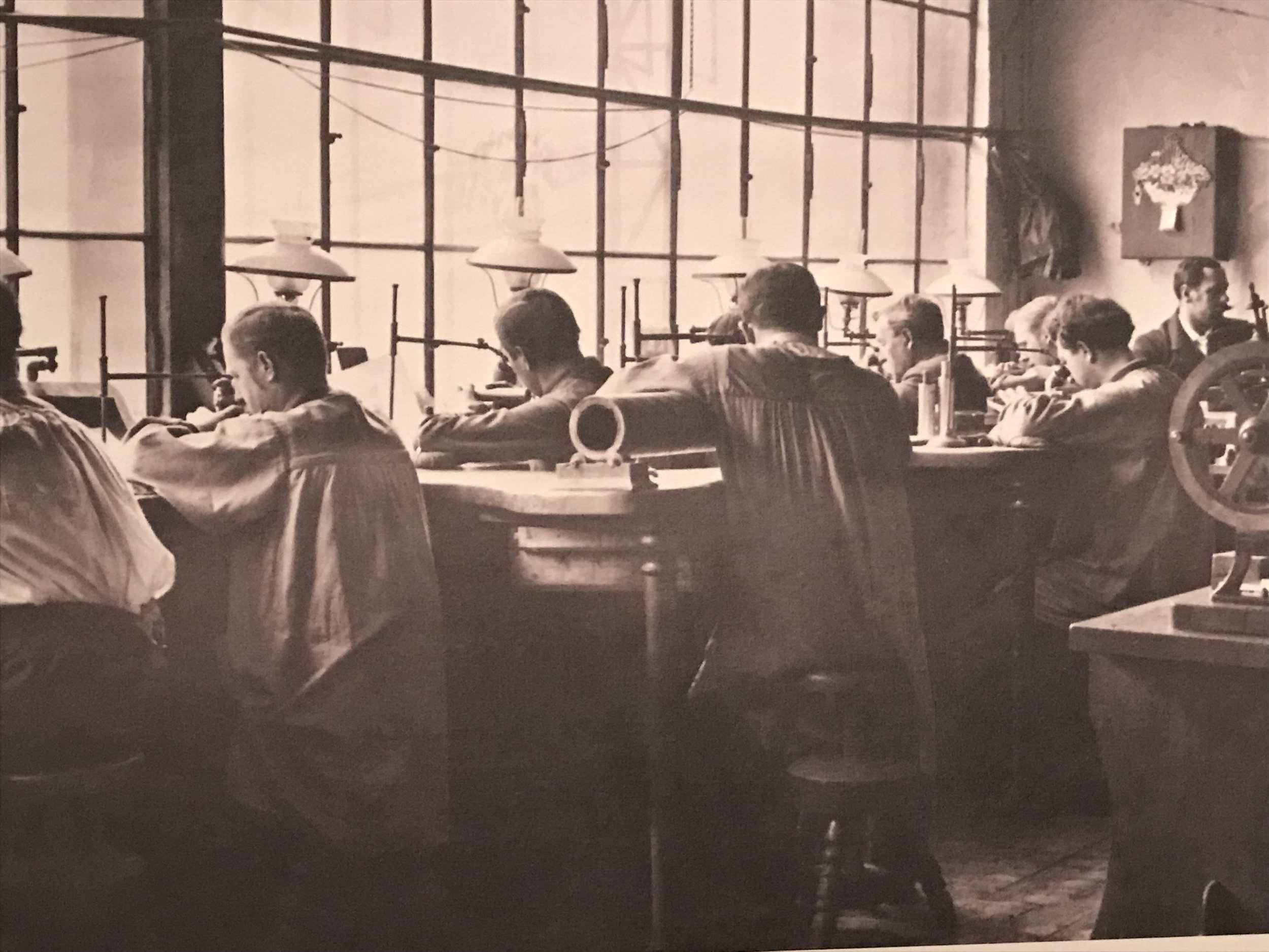 Back in the day the Goldberger Fabric Factory would make high quality fabric and ship it around the world.