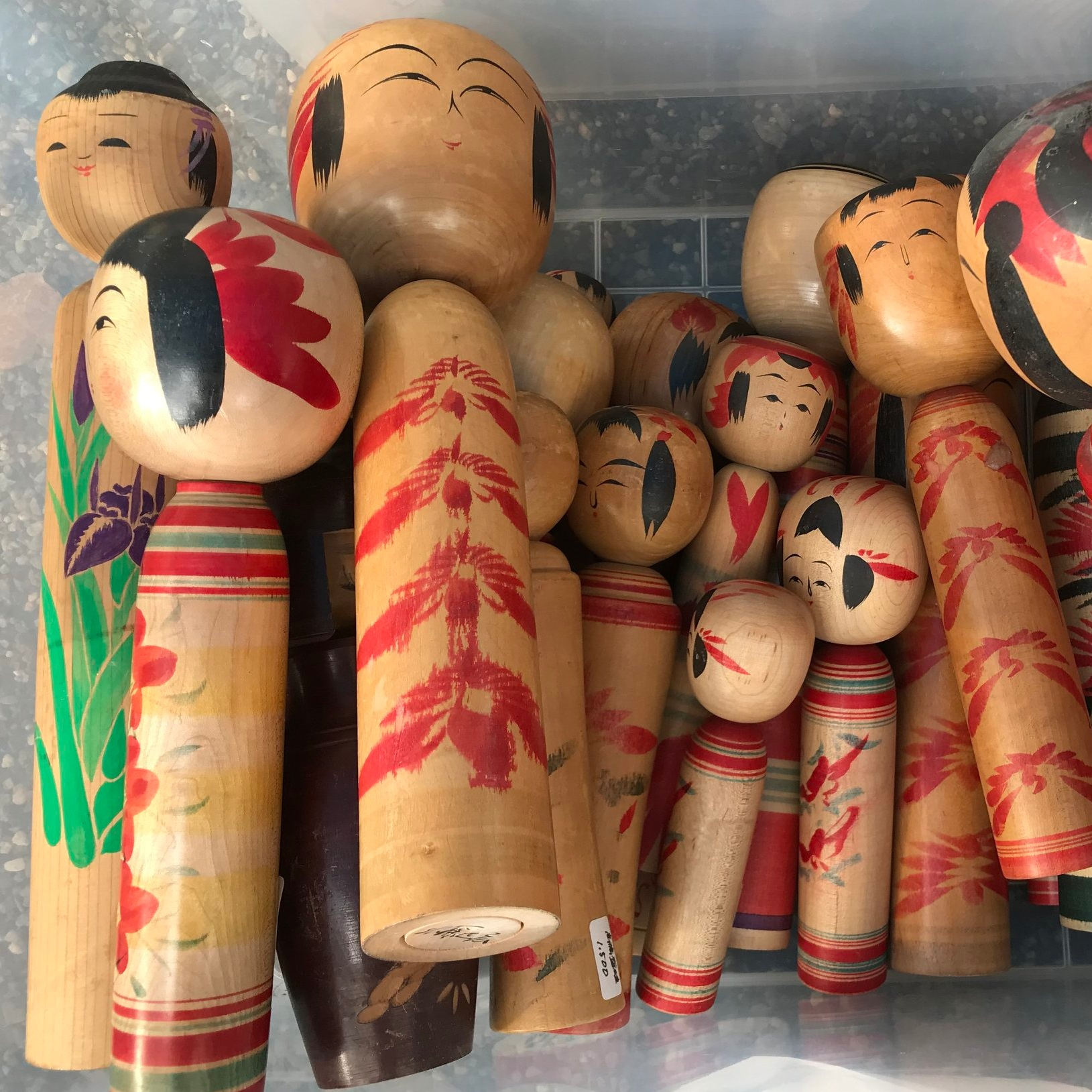 These wooden dolls were for sale at the Japanese Market - I mean who could resist?