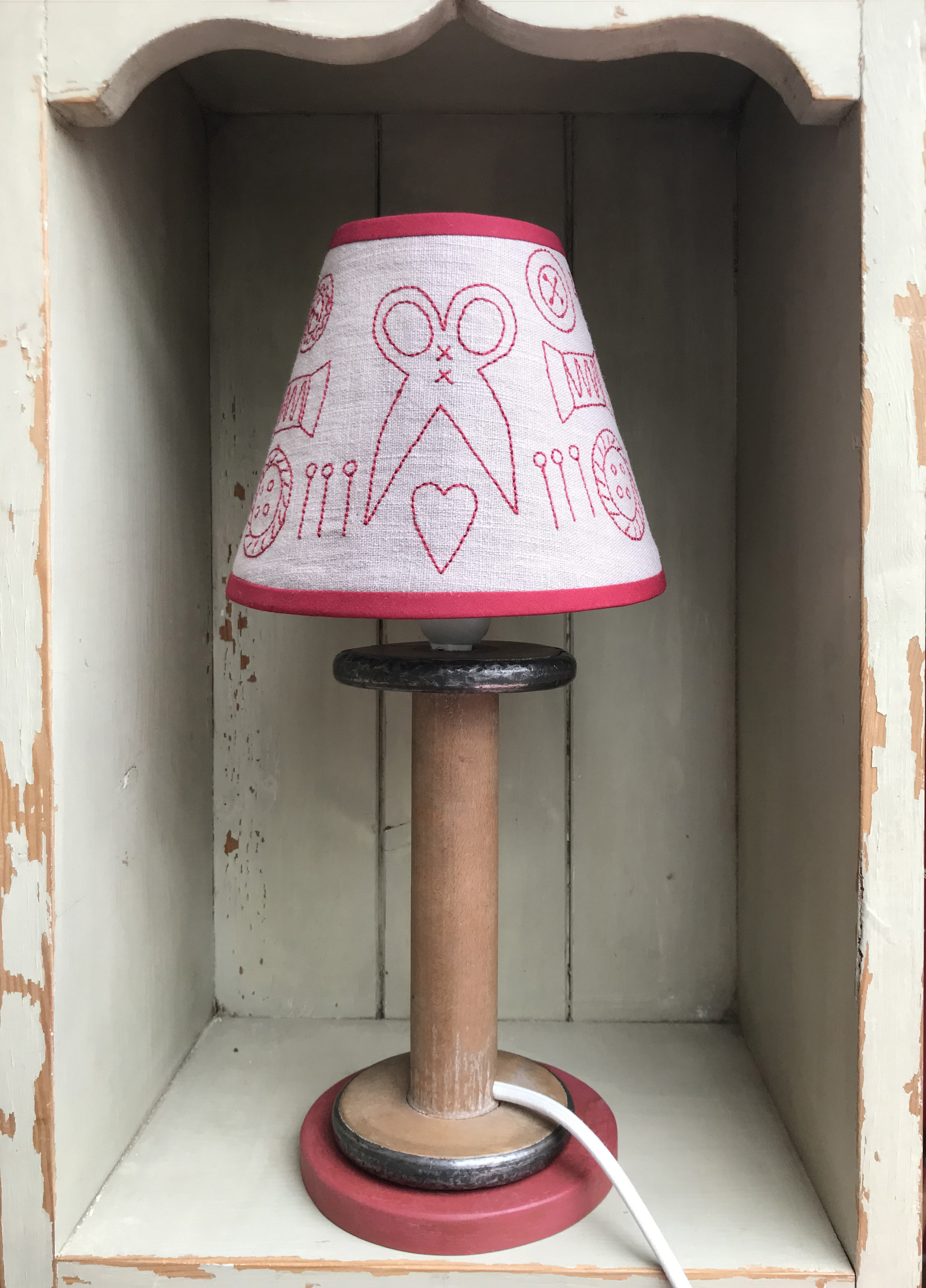 Your Lamp Stand comes ready fitted with a white fabric flex – you will just need to add the shade and a bulb.