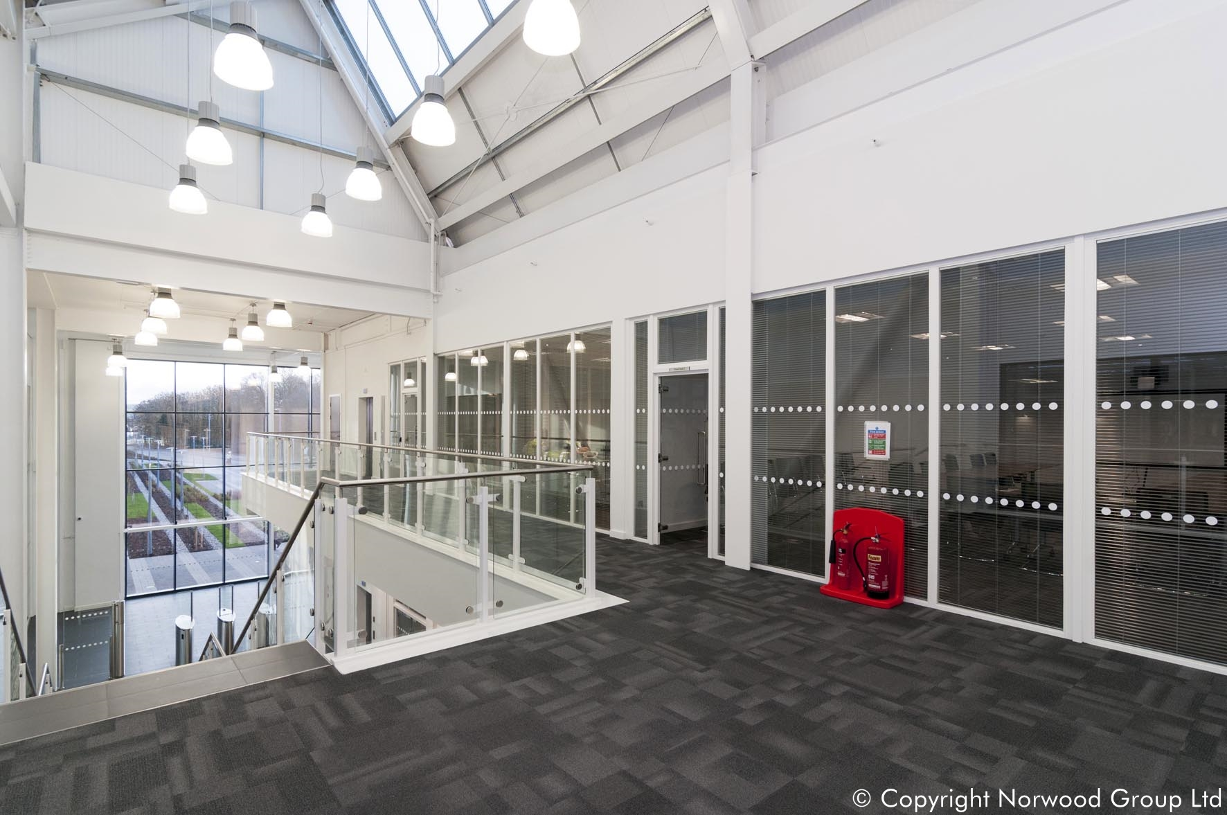 Jaguar Land Rover - Fire rated and acoustic glazed partition walls