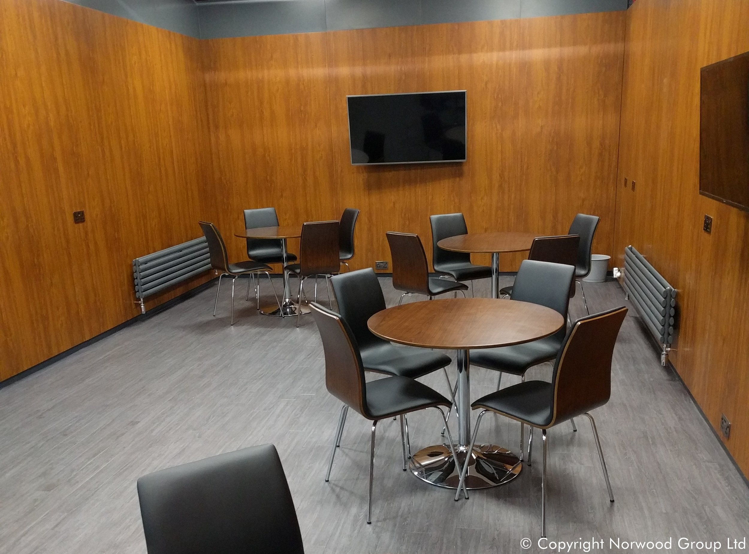 Charles Taylor Auctioneers Golden Oak Coloured Steel Wall Lining Cladding Partitions